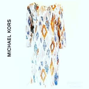 Michael Kors Geometric Print Dress sz 10